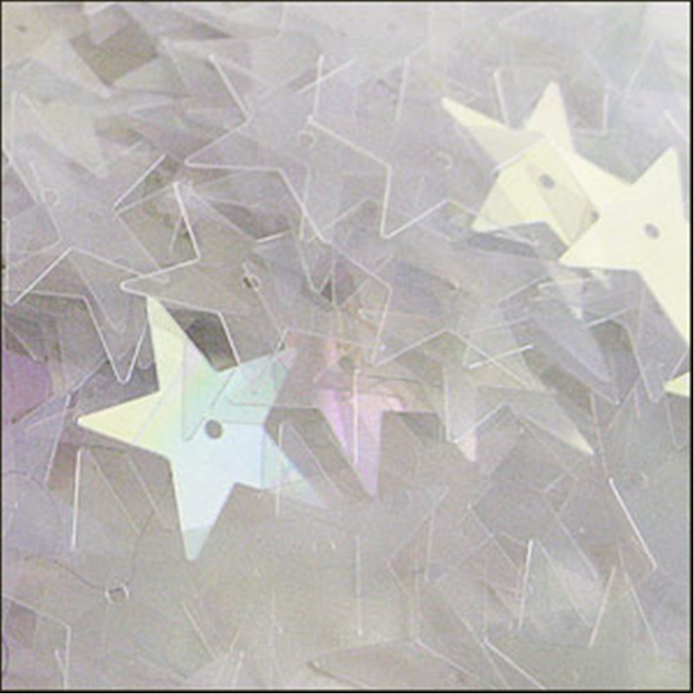 Clear Rainbow Star Sequins. 15mm