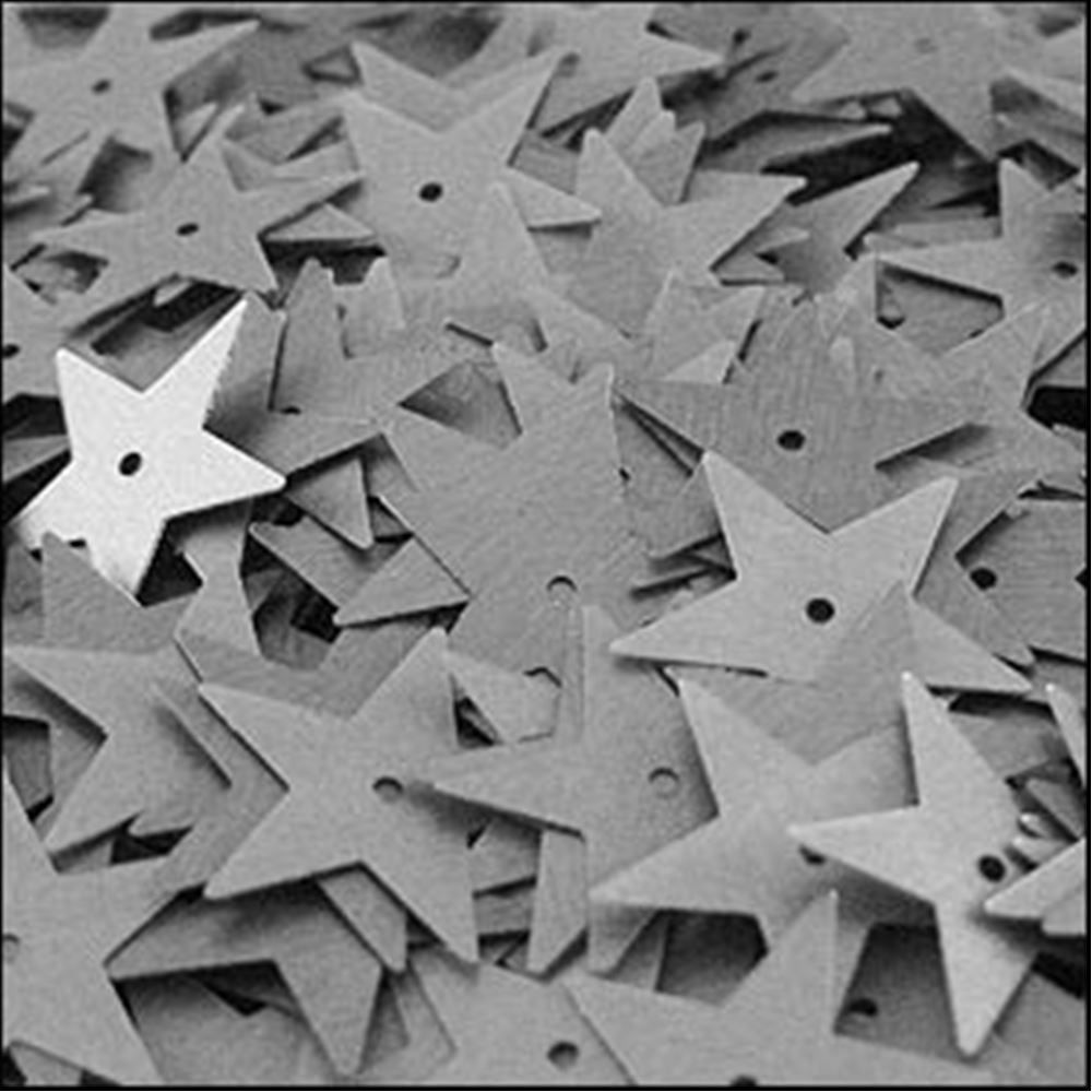 Matte Gunmetal Star Sequins. 15mm