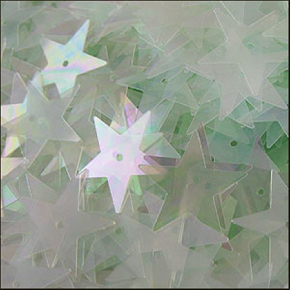 Clear Green Aqua Star Sequins. 15mm