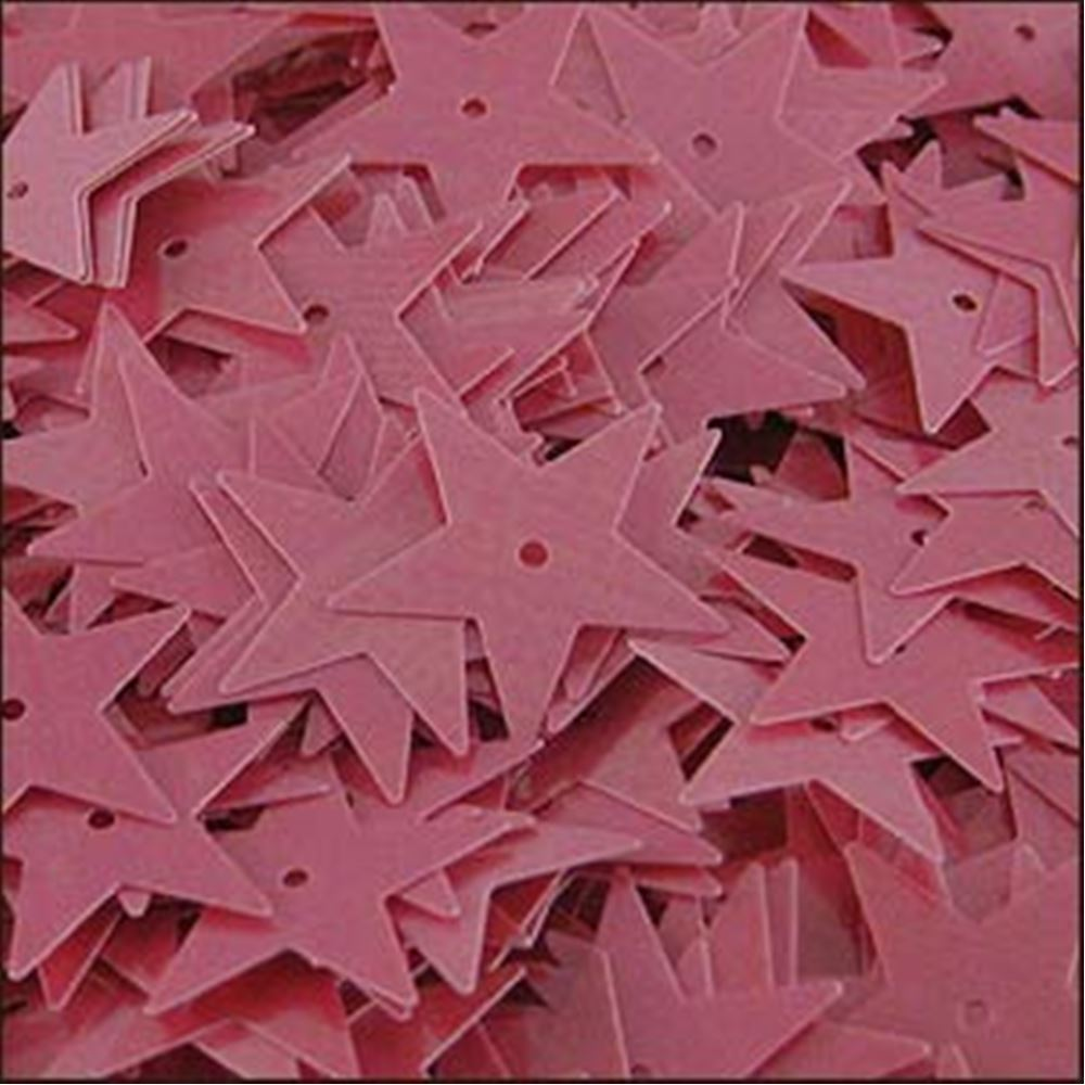 Glossy Bubblegum Pink Star Sequins. 15mm