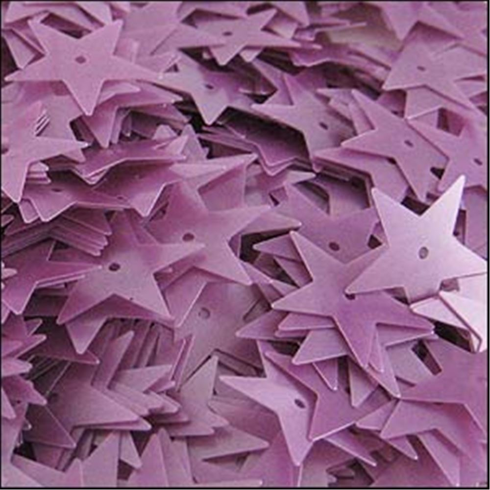 Satin Heather Star Sequins. 15mm