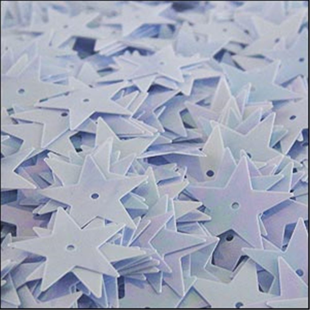 Glossy Sky Blue Star Sequins. 15mm