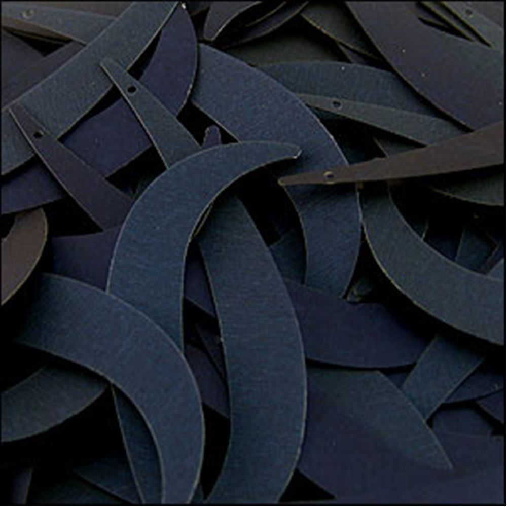 Matte Navy Blue Tusk Sequins. 55mm