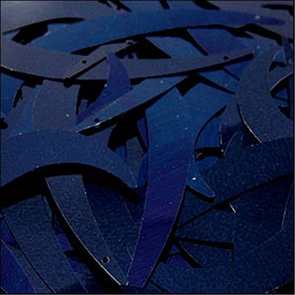 Metallic Navy Blue Tusk Sequins. 55mm