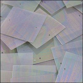 Clear Rainbow Square Sequins. 25mm