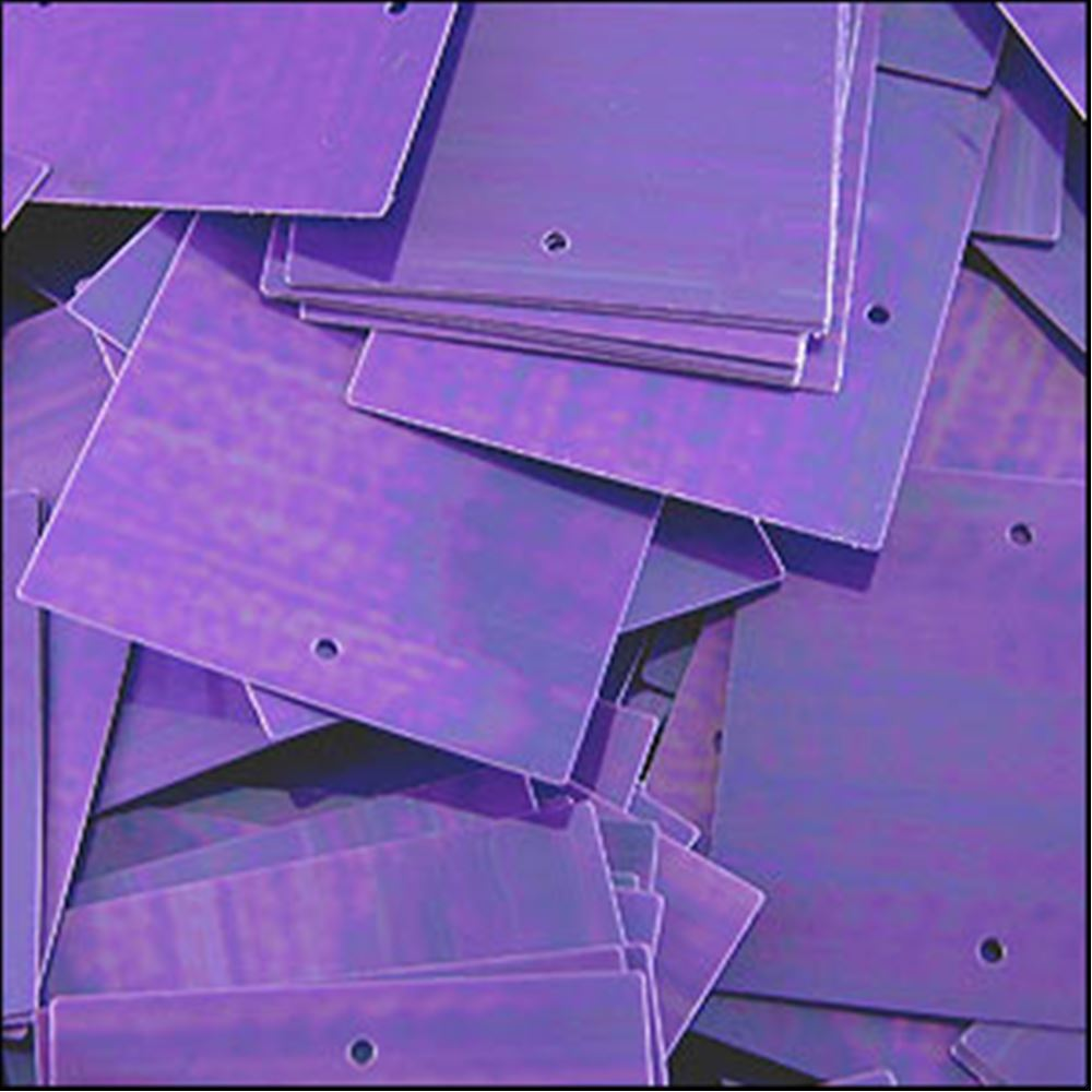 Glossy Amethyst Square Sequins. 25mm