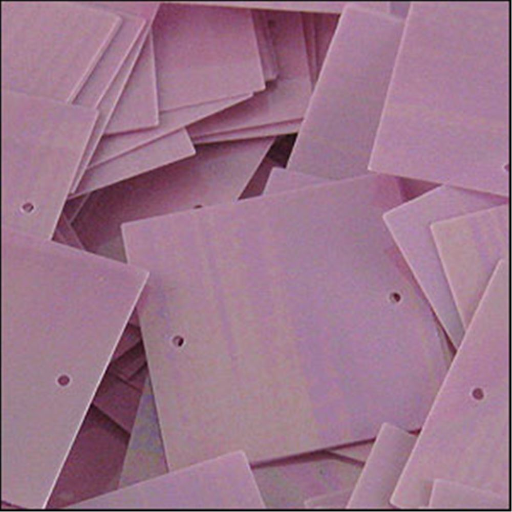 Glossy Lilac Square Sequins. 25mm