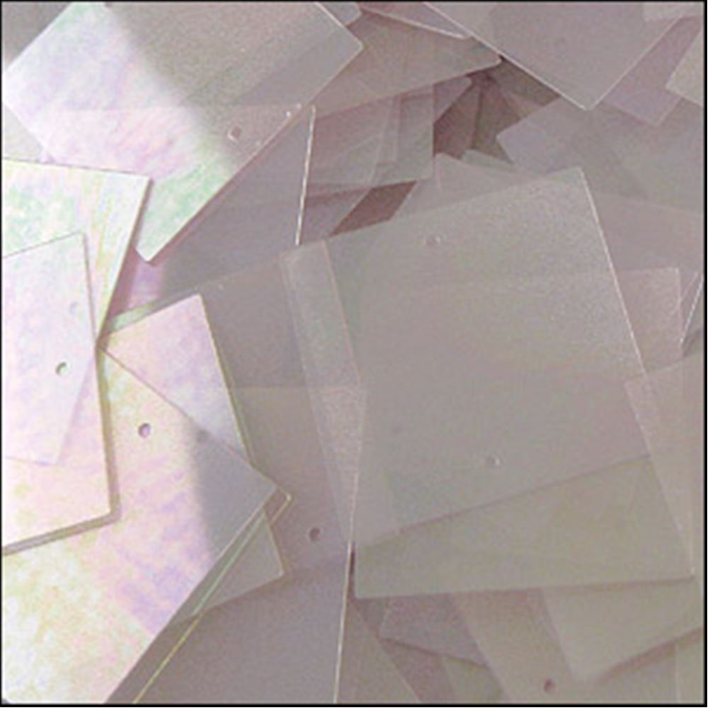 Clear Lilac Square Sequins. 25mm
