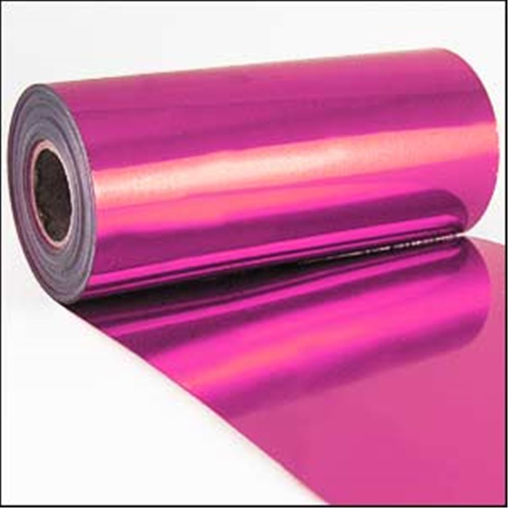 Shocking Pink Metallic Sequin Film. 5m Roll