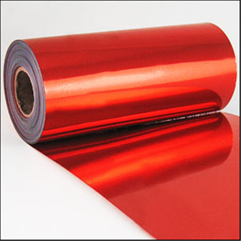 Red Metallic Sequin Film. 5m Roll