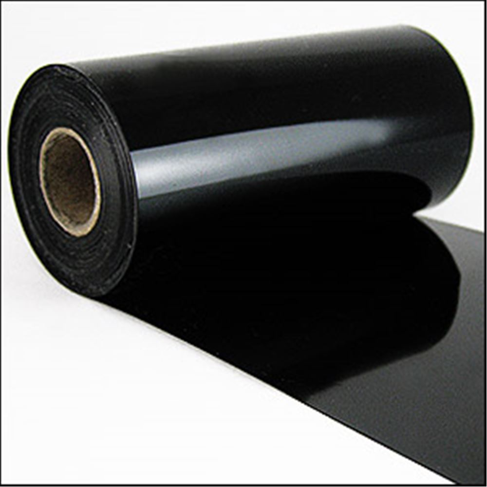 Black Glossy Sequin Film. 5m Roll