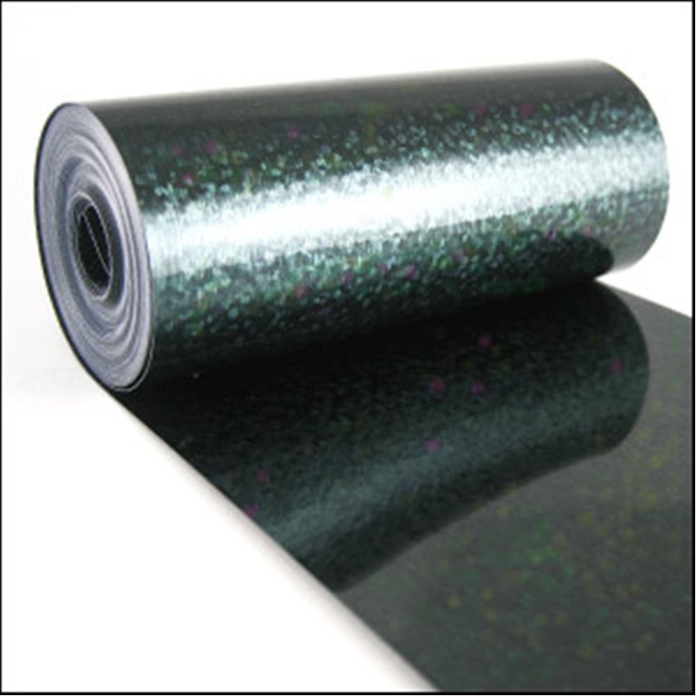 Holo Black Sequin Film. 5m Roll