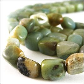 Amazonite Semi-Precious Beads. 13x10mm