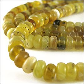Yellow Opalite Semi-Precious Beads. 8x5mm
