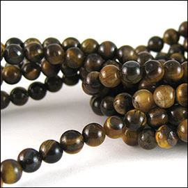 Tiger Eye Semi-Precious Beads. 10mm