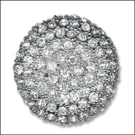 Dome Diamante Button. 28mm