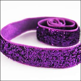 Metallic Velvet Ribbon. 10mm. Purple