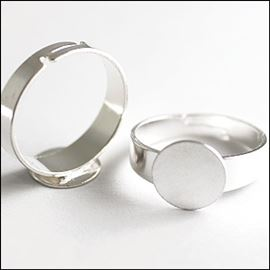 Ring Finding - Silver Plated 10mm. Pack Of 2.