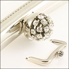 Purse Frame - Diamante Ball 112mm X 73mm