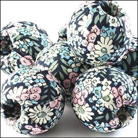 Fabric Covered Bead - Floral 30mm
