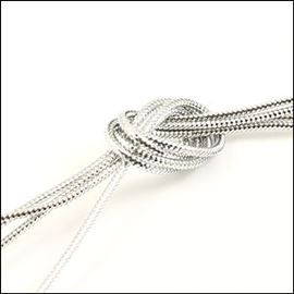 Metallic Cord. 2mm. Silver