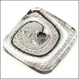 Handmade Pendant With Centre Hole - Monochrome 30mm X 30mm