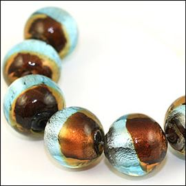 Lampwork Round Beads. Horizon. 19mm