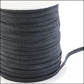 Flat Elastic - Black 5mm
