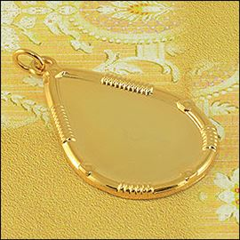 Metal Tear Pendant - Silver & Gold 25mm X 39mm