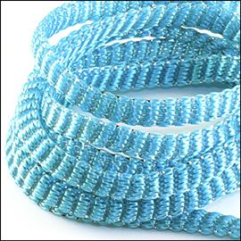 Acrylic Tubular Cord With Lurex Thread. 5mm X 10mts. Glitzy Silver.