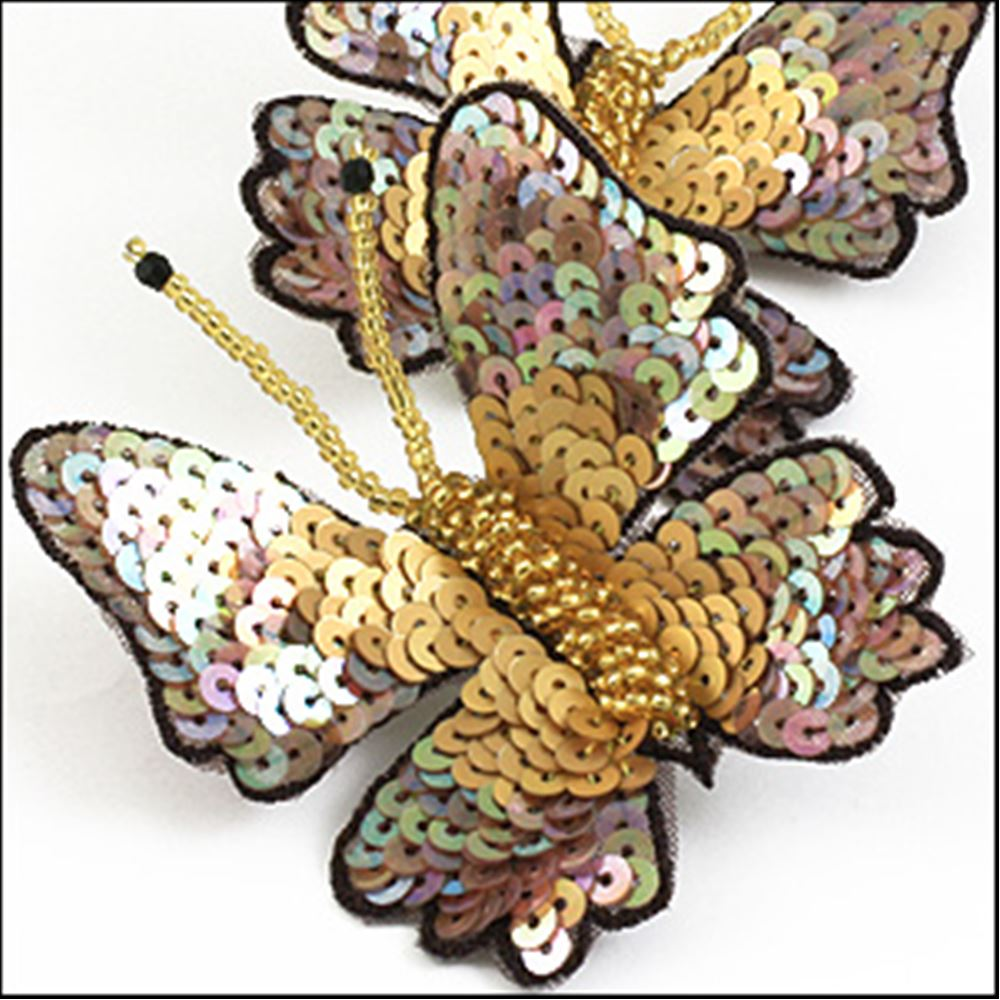 Large Gold Butterfly Pin.  64mm. Gold.