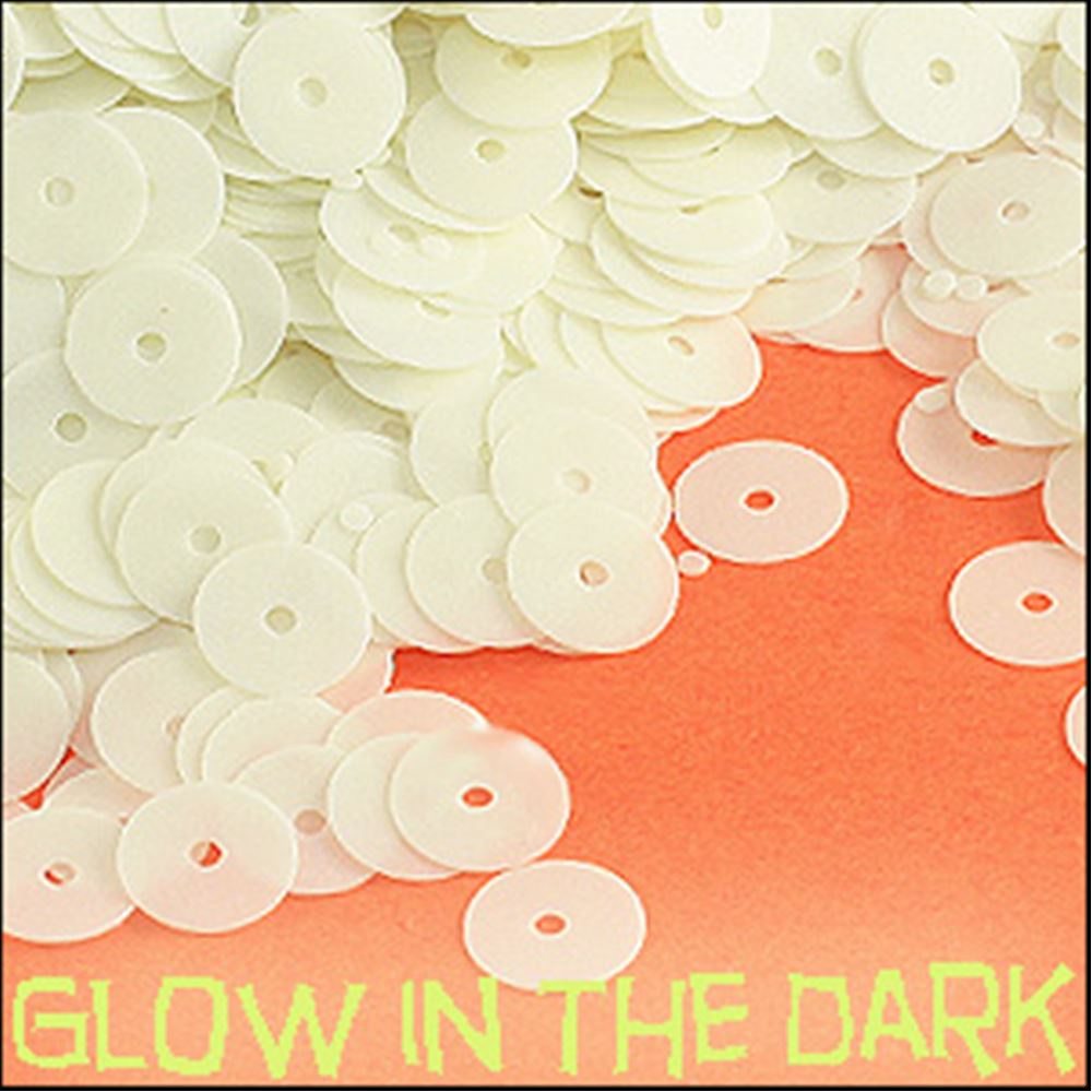 Glow In The Dark! 6mm Flat Sequins